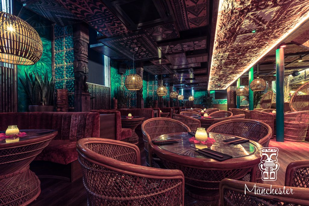 Interior shot at Mahiki Manchester